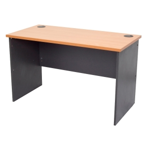 RAPID WORKER DESK 1500WX750DX730H BEECH/IRONSTONE  - EACH