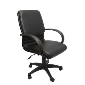 RAPIDLINE MEDIUM BACK EXECUTIVE CHAIR SINGLE LOCK PU BLACK  - EACH