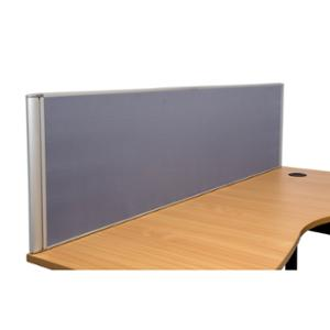 RAPIDLINE DESK MOUNTED FLAT TOP SCREEN 1500WX30DX500H GRAPHITE  - EACH