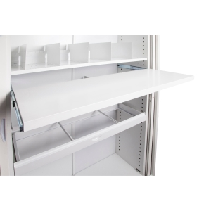 GO TAMBOUR DOOR ROLL OUT FILE SHELF 1200WX400D - WHITE CHINA EACH - EACH