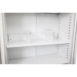 GO TAMBOUR DOOR SLOTTED SHELF 1200WX400D WHITE CHINA  - EACH