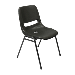 RAPIDLNE POLY PLASTIC CHAIR BLACK  - EACH