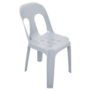 RAPIDLNE PIPEE PLASTIC STACKING CHAIR GREY  - EACH