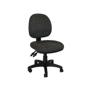 SEATING SOLUTIONS ERGO MEDIUM BACK TASK CHAIRS CHARCOAL - EACH