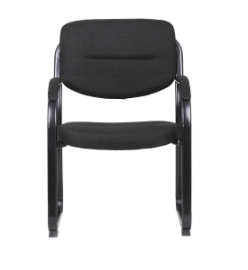 RAPIDLINE SLED BASE CHAIR WITH ARMS BLACK  - EACH