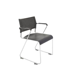 RAPIDLINE WIMBLEDON VISITOR CHAIR WITH ARMS BLACK  - EACH