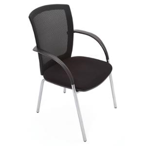 RAPIDLINE MESH VISITORS CHAIR BLACK  - EACH