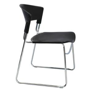 RAPIDLINE ZOLA PLASTIC STACKING CHAIR BLACK  - EACH