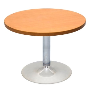 RAPIDLINE CHROME BASE TABLE WITH 900 ROUND TOP BEECH  - EACH