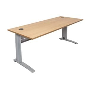 RAPID SPAN DESK 1500W X 700D X730HBEECH TOP/BRUSHED SILVER FRAME  - EACH