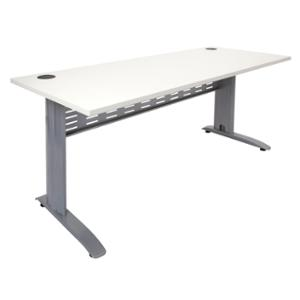 RAPID SPAN DESK 1800W X 700DX730H - WHITE TOP/BRUSHED SILVER FRAME  - EACH