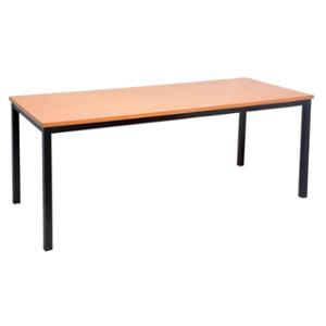 RAPIDLINE STEEL FRAME TABLE 1200WX600DX730H BEECH  - EACH