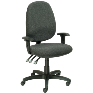 SEATING SOLUTIONS POSTURIGHT HIGH BACK TASK CHAIR CHARCOAL - EACH