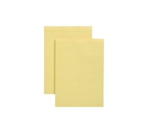NOTE PAD A4 50 SHEET RULED YELLOW - BOX OF 10