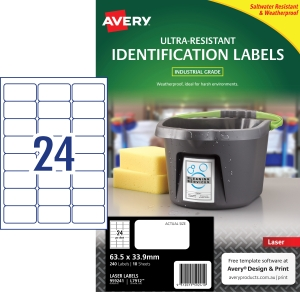 PK240 AVERY L7912 STRETCH 63,5X 33,9MM