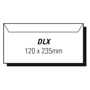 AOP DLX WALLET PEEL-N-SEAL ENVELOPE WHITE - BOX OF 500
