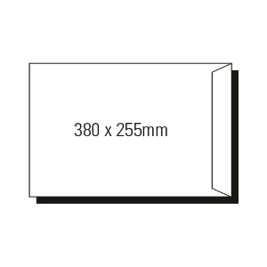 AOP 380 X 255MM POCKET PEEL-N-SEAL ENVELOPE WHITE - BOX OF 250