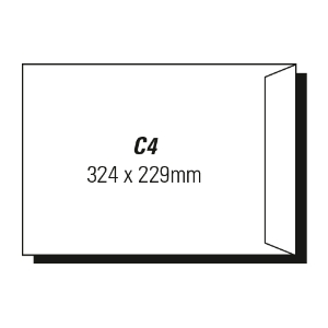 AOP C4 POCKET MOIST SEAL ENVELOPE WHITE - BOX OF 250
