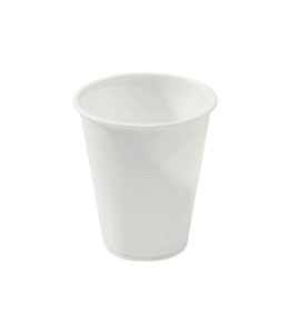 PLASTIC CUP WHITE 200ML - PACK OF 50