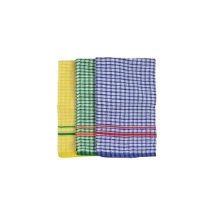 ITALPLAST COTTON TEA TOWELS ASSORTED - PACK OF 3