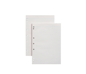 NOTE PAD A4 50 SHEET RULED 7HOLE WHITE - BOX OF 10