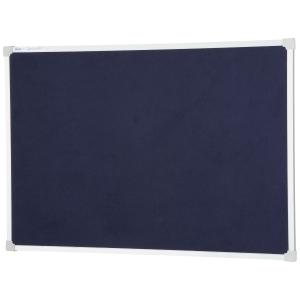 QUARTET ALUMINIUM FRAME FELT PIN BOARD BLUE 1200 X 900MM - EACH
