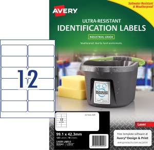 BX120AVERY L7913-10 H/DUTY LAB 99,1X42,3