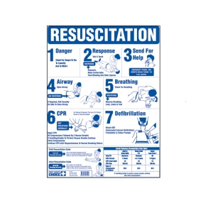 FIRST AIDERS CHOICE CPR RESUSCIATION CARD - EACH