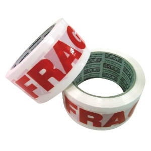 NACHI SP250 FRAGILE TAPE 48MM X 66M RED/WHITE - EACH