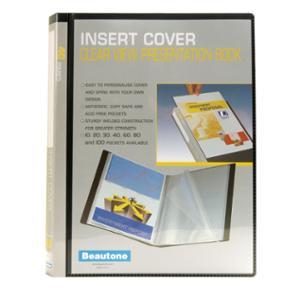 BEAUTONE DISPLAY BOOK 40 POCKET A4BLACK - EACH