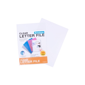 BEAUTONE LETTER FILE E CUT FLUSH A4CLEAR - PACK  OF 10