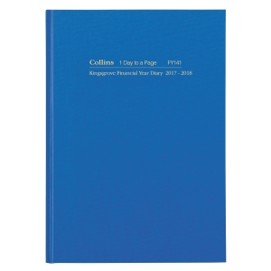 COLLINS KINGSGROVE FIN DAY TO PAGE DIARY A4 BLUE - EACH