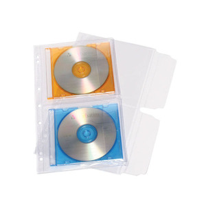 CUMBERLAND CD POCKET FITS 2-CDS A4- PACK OF 10