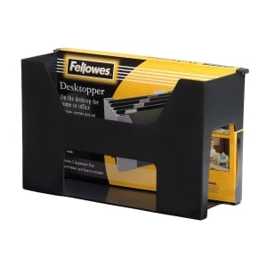 FELLOWES DESK TOPPER WITH 5- SUSPENSION FILES BLACK - EACH