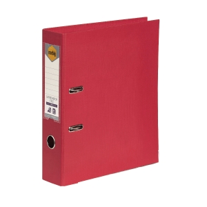 MARBIG LINEN LEVER ARCH FILES PE 70MM A4 RED - EACH