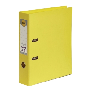 MARBIG LINEN LEVER ARCH FILES PE 70MM A4 YELLOW - EACH