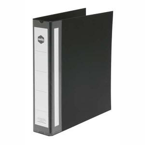 MARBIG RING BINDER  4D-RING PVC 38MM BLACK - EACH