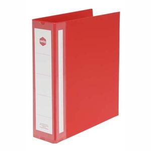 MARBIG RING BINDER  4D-RING PVC 38MM RED - EACH