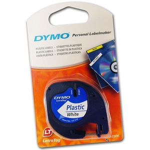 DYMO LETRATAG LABEL TAPE12MMX4M WHITE - EACH
