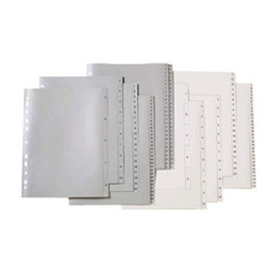 MARBIG DIVIDERS  1-20 POLYPROPYLENE A4 GREY  - EACH