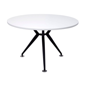 RAPID WORKER 900 ROUND TABLE BLACK STEEL BASE WHITE - EACH