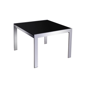 RAPIDLINE COFFEE TABLE 600X600 GLASS/CHROME - EACH