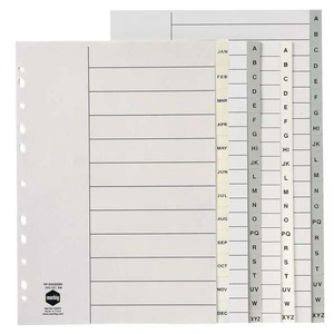 MARBIG DIVIDERS  A-Z POLYPROPYLENE A4GREY- EACH