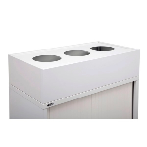 RAPIDLINE PLANTER BOX 1200MM WIDE INCLUDING METAL DRIP TRAY WHITE - EACH
