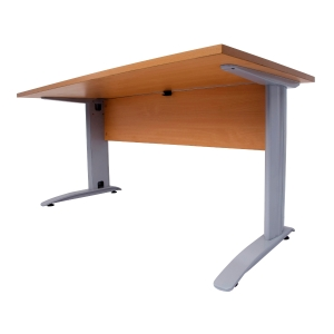 RAPID SPAN DESK 1500W X 700D TIMBER MODESTY PANEL  BEECH TOP/SILVER - EACH