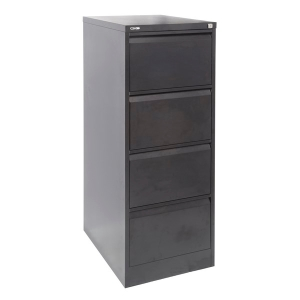 RAPIDLINE GO STEEL ANTI TILT FILING CABINET 4 DRAWER BLACK RIPPLE - EACH
