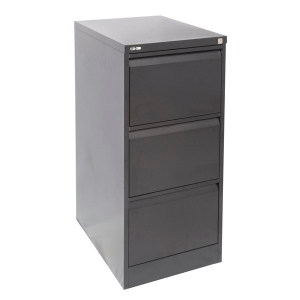 RAPIDLINE GO STEEL ANTI TILT FILING CABINET 3 DRAWER BLACK RIPPLE - EACH