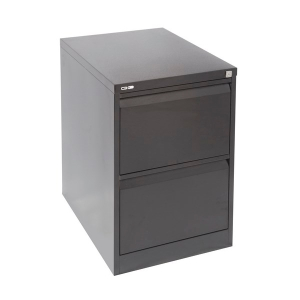 RAPIDLINE GO STEEL ANTI TILT FILING CABINET 2 DRAWER BLACK RIPPLE - EACH