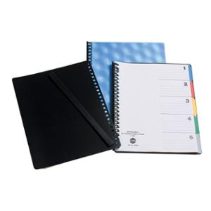 MARBIG DIVIDERS  5 TAB DISPLAY BOOK POLYPROPYLENE A4  - EACH
