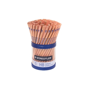 STAEDTLER NATURAL HB GRAPHITE PENCILS + BONUS CUP - CUP OF 100
